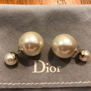 Christian Dior Tribal Pearl Earrings